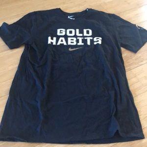 NWOT USA BASKETBALL GOLD HABITS NIKE T SHIRT.